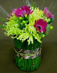Bamba and with colorful flowers wedding center piece ideas photo.JPG