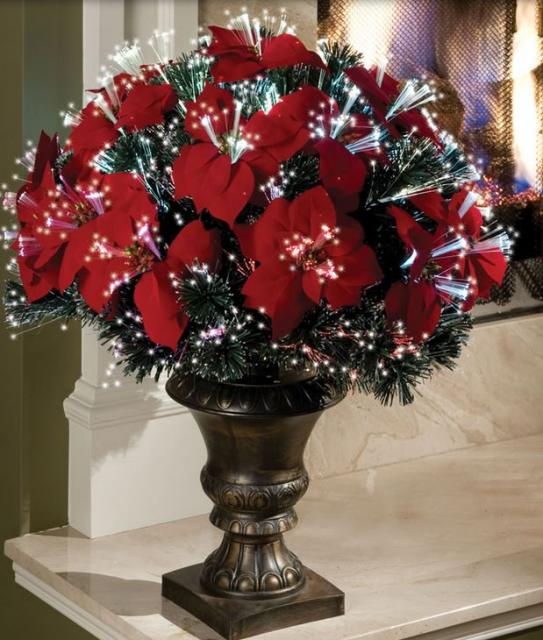 Silk Poinsettias in red pictures.JPG