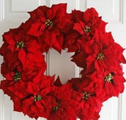 Breathtaking Poinsettia Wreath.JPG