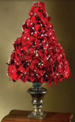 Fiber Optic Poinsettia Christmas Tree.JPG
