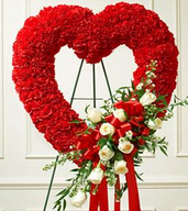 Red heart shaped flowers pictures