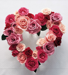 Pink heart shape valentines day bouquet picutre