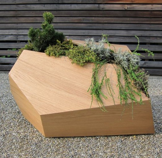 Artistic Wooden Planter Picture Png