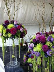 Tall and large wedding arrangements beautiful summer flowers