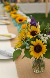 Sunflowers wedding centerpieces picture