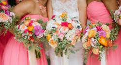 Bright colored bridal bouquet perfect for summer wedding