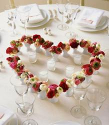 Heart shaped centerpieces