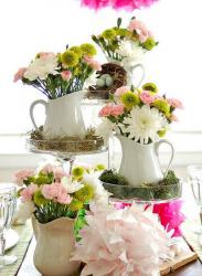 French country style wedding centerpieces ideas