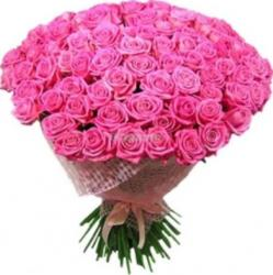 Beautiful Valentine's Day Bouquet with hot pink roses