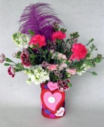 Cheap Valentines day gift ideas with cute flowers and craft