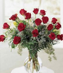 Classic red roses Valentines day flowers gift