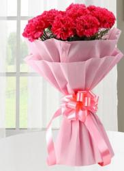 Pink Flowers Valentine's Day Bouquet
