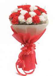 Pretty Valentine's Day Bouquet with White and Red Flowers