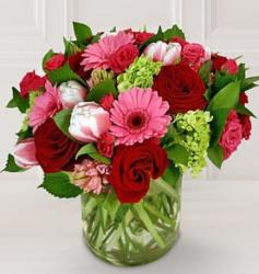 Valentines Flower gift in bright colors