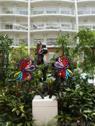 Colorful Butterfly Sculptures at Central Park Allure of the Seas