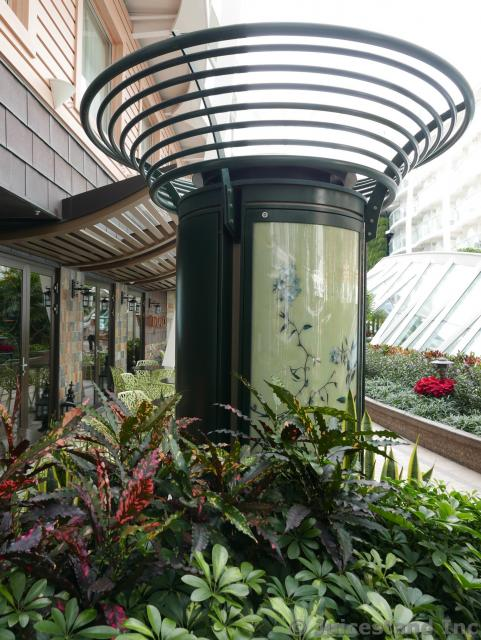 Light Pillar with Plant Art at Central Park Allure of the Seas