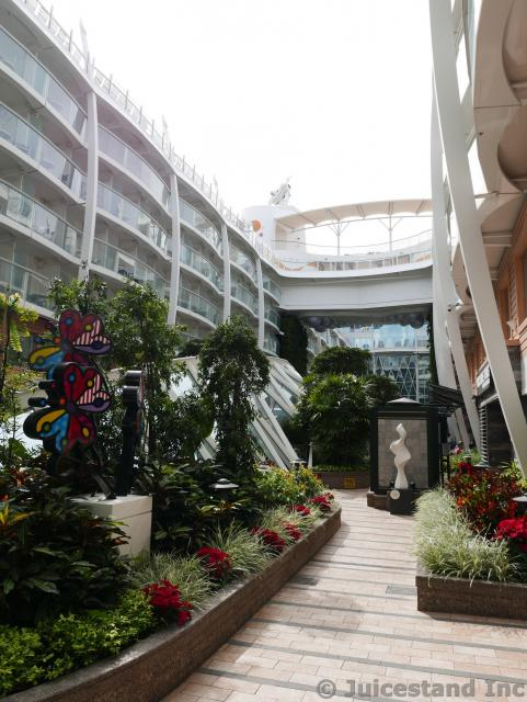 Pathway through the Garden at Central Park Allure of the Seas