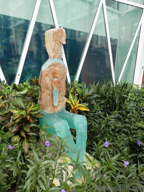 Sandstone & Jade Sculpture at Central Park Allure of the Seas