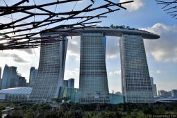 Marina Bay Sands Seen from OCBC Skyway Gardens by the Bay