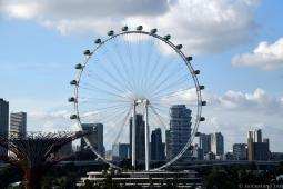 Singapore Flyer Seen from OCBC Skyway