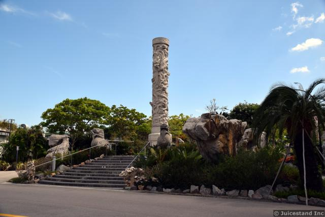 Totem Pole and Animal Sculptures at Gardens by the Bay