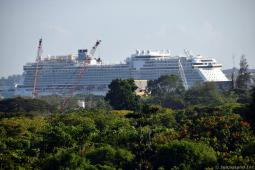 View of Cruise Ship from OCBC Skyway