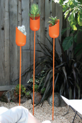 Bright orange Modern Oval Planters Made of Aluminum_very chic looking.PNG