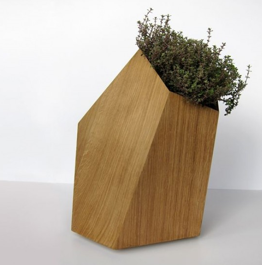Modern Wooden Planter Photo Contemporary Planter Png