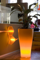 Planter with Built-In Lighting Llum By Vondom.PNG