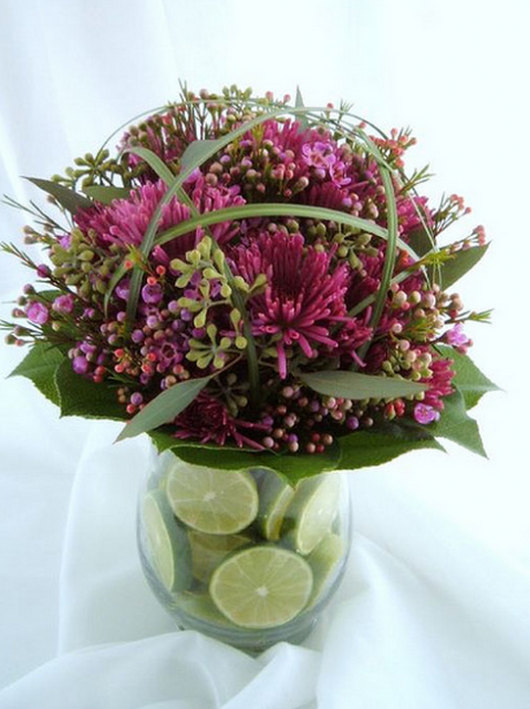Centerpiece Lime Green Purple Png