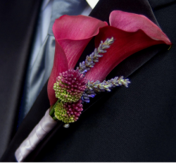 Dark red pink modern groom's boutonniere picture.PNG