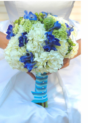 Wedding Blue White Flowers Bouquet PhotosPNG