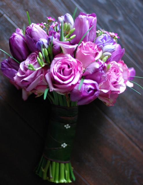 Pretty bridal bouquet with pink theme color flowers.PNG