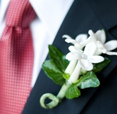 Small White Flowers Corsage For Weddings Png