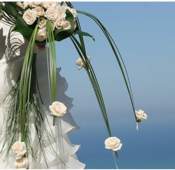 White bride bouquets with long spring green leaves.PNG