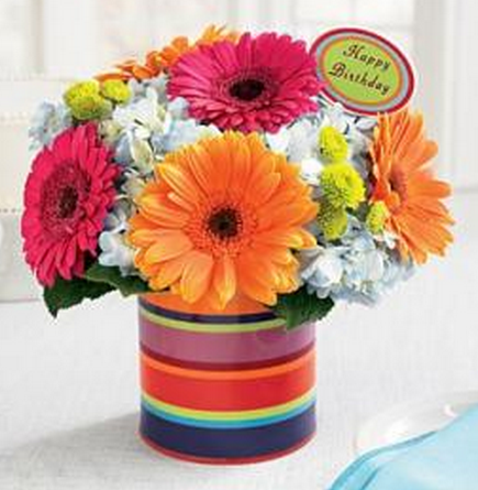 Modern Birthday Flowers Images Png