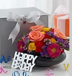 Fresh flowers birthday gift photos