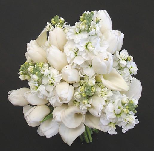 White Flower Wedding Bouquet: Tulip Flower Bouquets_white Wedding Bouquet.jpg