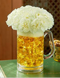 Unique beer cup with fresh white flowers.PNG