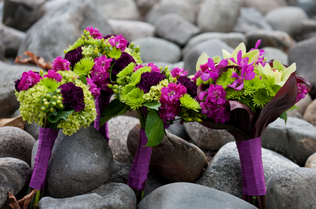 vibrant bridal bouquet with purple and green flowers png hi res 720p hd