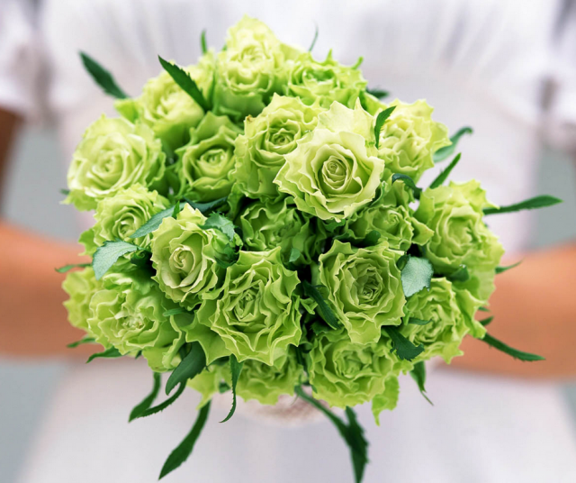 Wedding Flower Costs Estimator: Green Roses Bouquets For Weddings.PNG Hi-Res 720p HD