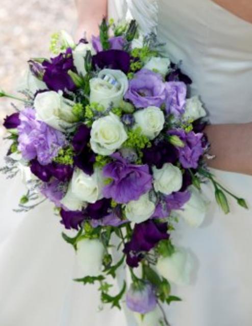 Dark Purple And Green Wedding Flowers Light Lavender Lisianth