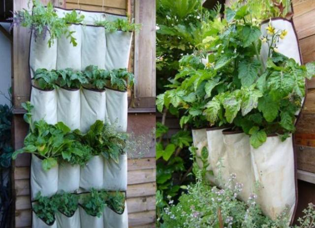 Fabric vertical vegetable gardening ideas photo png for Vertical veggie garden ideas
