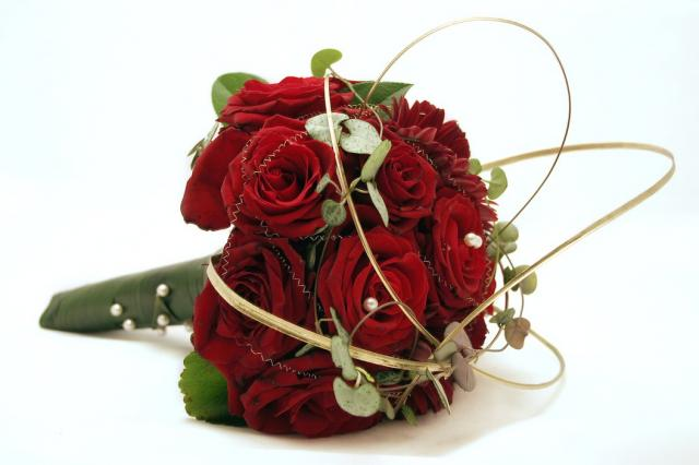 Elegant red roses wedding bouquet g hi res p hd