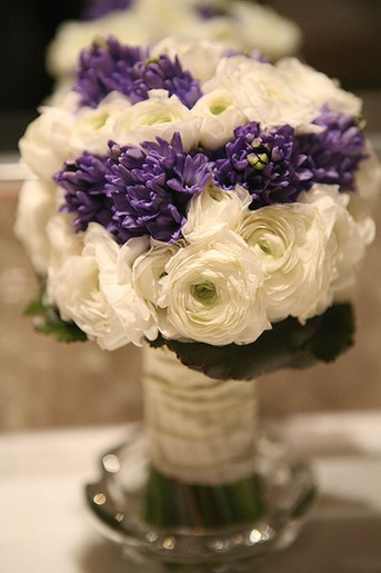 Wedding bouquets purple flower