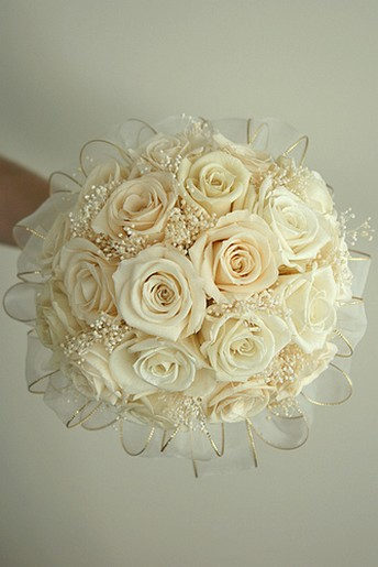 Elegant White Rose Wedding Bouquet Jpg 1 Comment