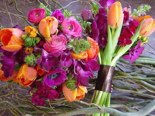 Spring wedding bouquet indianapolis