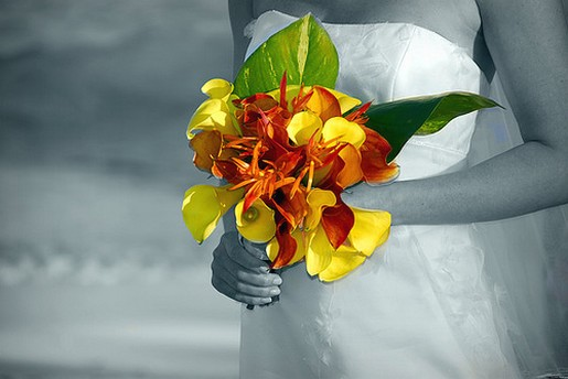 orange and yellow flowers bridal bouquet photo.jpg
