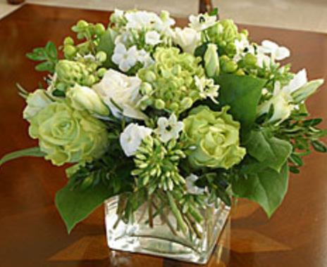 White and green flowers center piece picturesg mightylinksfo