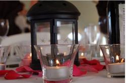 candle wedding center piece with red rose pandels.jpg